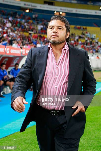 Daniel Guzman coach of Atlante during the match as part of the Clausura 2013 Liga MX at Estadio Jalisco on February 09 2013 in Guadalajara Mexico