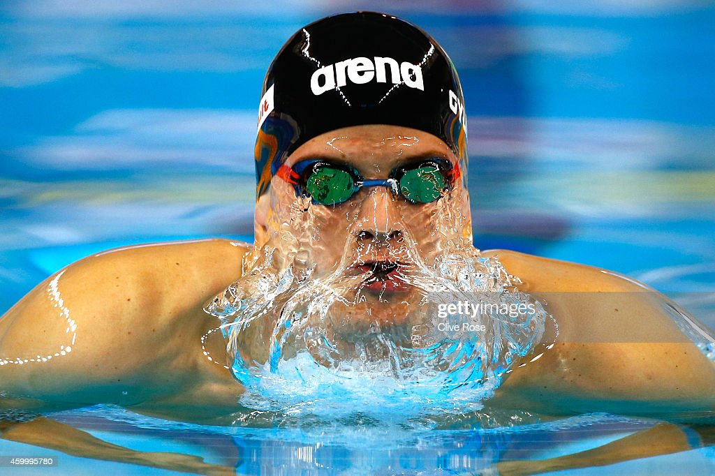 Daniel Gyurta of Hungary competes in the Men's 200m Breaststroke Final on day three of the 12th FINA World Swimming Championships (25m) at the Hamad Aquatic Centre on December 5, 2014 in Doha, Qatar.
