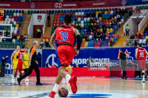 Daniel Hackett #10 of CSKA Moscow in action against Alba Berlin during the Turkish Airlines EuroLeague Round 4 of 20202021 season at the Megasport...