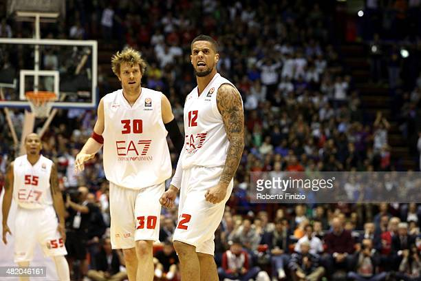 Daniel Hackett, #12 of EA7 Emporio Armani Milan during the 2013-2014 Turkish Airlines Euroleague Top 16 Date 13 game between EA7 Emporio Armani Milan...