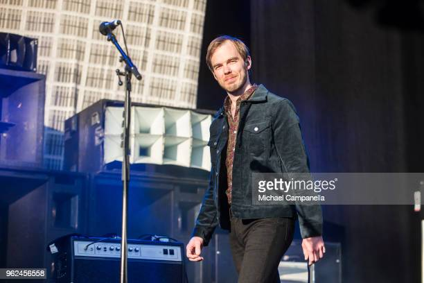 Daniel Haglund of Mando Diao performs in concert at Grona Lund on May 25 2018 in Stockholm Sweden