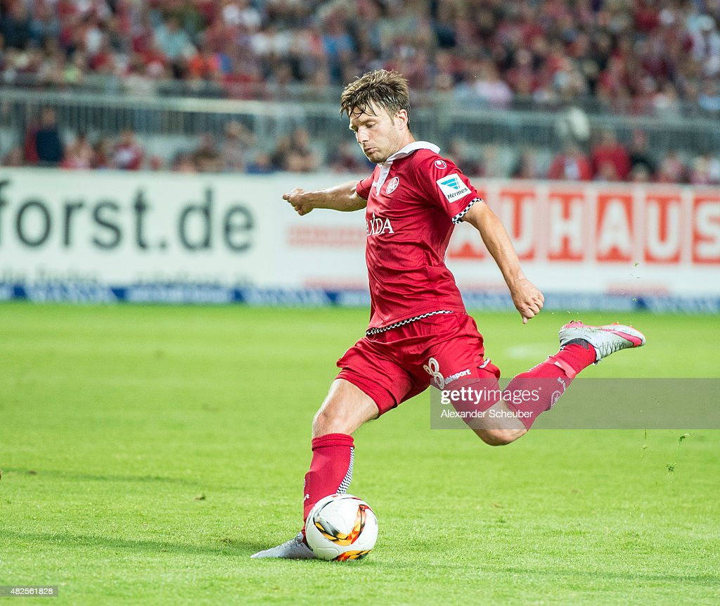 Daniel Halfar (1. FC Kaiserslautern) during the 2. Bundesliga match between 1. FC Kaiserslautern and Eintracht Braunschweig at Fritz-Walter-Stadion on July 31, 2015 in Kaiserslautern, Germany.