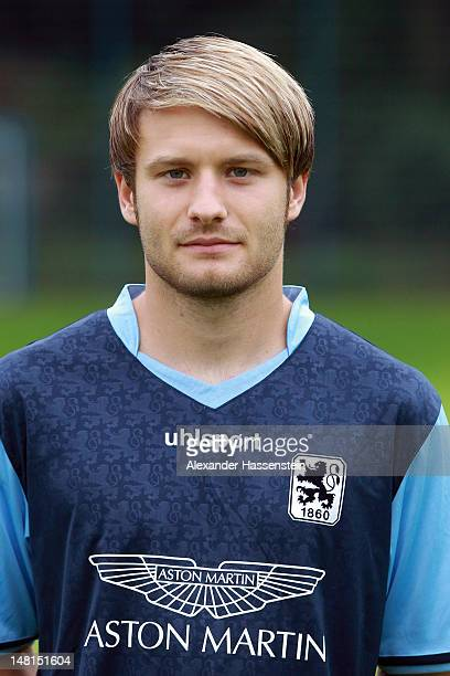 Daniel Halfar of 1860 Muenchen poses during the Second Bundesliga team presentation of TSV 1860 Muenchen on July 11 2012 in Munich Germany