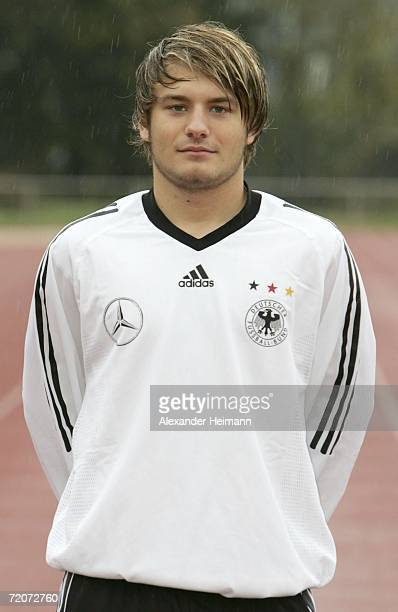 Daniel Halfar poses during the Men's U19 photocall on October 3 2006 in Niederrad Germany
