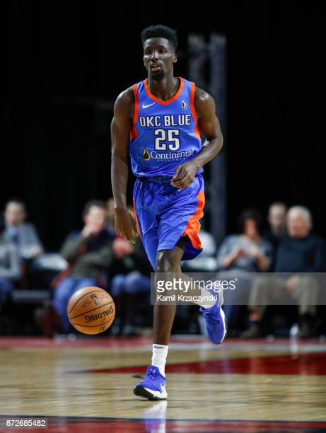 Daniel Hamilton of the Oklahoma City Blue brings the ball up court against the Windy City Bulls during the second quarter of an NBA GLeague game on...