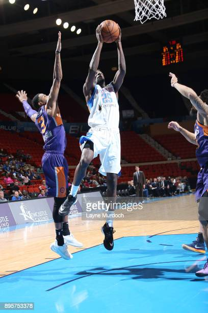 Daniel Hamilton of the Oklahoma City Blue dunks against the Northern Arizona Suns during an NBA GLeague game on December 19 2017 at the Cox...