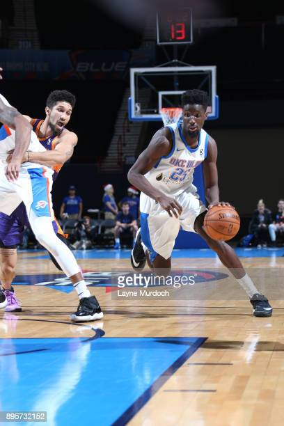Daniel Hamilton of the Oklahoma City Blue handles the ball against the Northern Arizona Suns during an NBA GLeague game on December 19 2017 at the...
