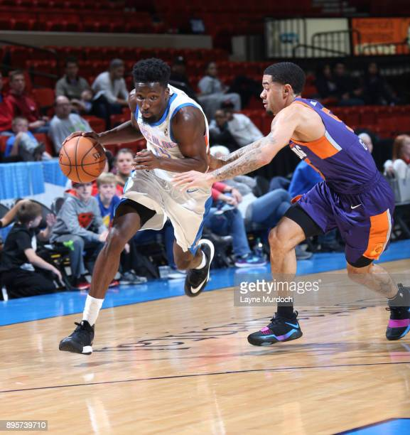 Daniel Hamilton of the Oklahoma City Blue handles the ball against the North Arizona Suns during an NBA GLeague game on December 19 2017 at the Cox...
