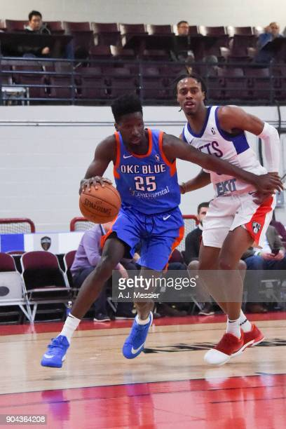 Daniel Hamilton of the Oklahoma City Blue handles the ball against the Long Island Nets at NBA G League Showcase Game 18 on January 12 2018 at the...