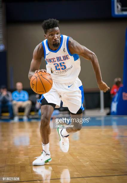 Daniel Hamilton of the Oklahoma City Blue handles the ball against the Iowa Wolves in Oklahoma City OK on January 31 2018 NOTE TO USER User expressly...