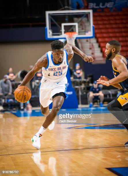 Daniel Hamilton of the Oklahoma City Blue handles the ball against the Salt Lake City Stars on February 10 2018 at the Cox Convention Center Arena in...
