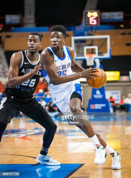 Daniel Hamilton of the Oklahoma City Blue handles the ball against the Austin Spurs on March 22 2018 at the Cox Convention Center Arena in Oklahoma...