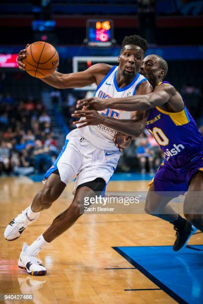 Daniel Hamilton of the Oklahoma City Blue handles the ball against the South Bay Lakers during Round One of the NBA GLeague playoffs on March 31 2018...