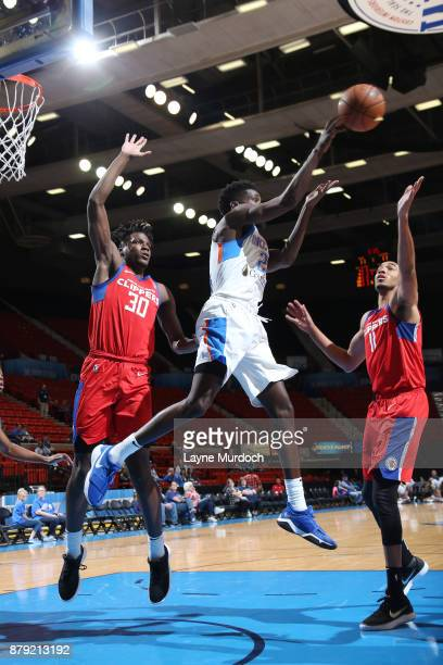 Daniel Hamilton of the Oklahoma City Blue handles the ball during a NBA GLeague game against the Agua Caliente Clippers on November 25 2017 at the...