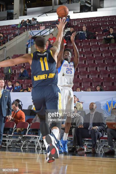 Daniel Hamilton of the Oklahoma City Blue shoots the ball against the Fort Wayne Mad Ants during the NBA GLeague Showcase on January 11 2018 at the...