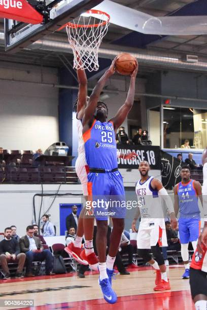 Daniel Hamilton of the Oklahoma City Blue shoots the ball against the Long Island Nets at NBA G League Showcase Game 18 on January 12 2018 at the...