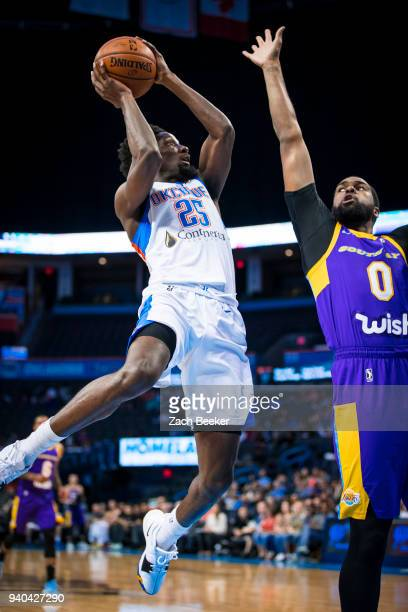 Daniel Hamilton of the Oklahoma City Blue shoots the ball against the South Bay Lakers during Round One of the NBA GLeague playoffs on March 31 2018...