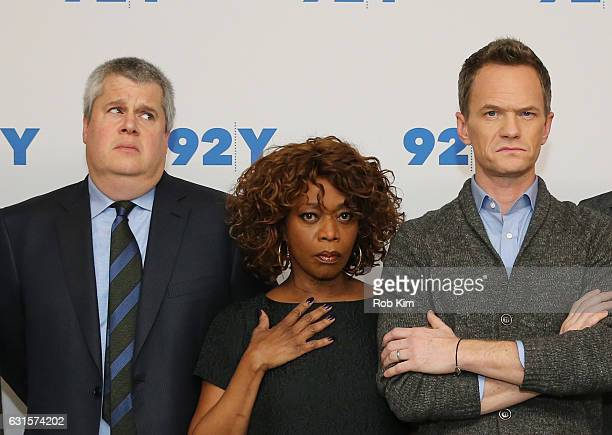 Daniel Handler Alfre Woodard and Neil Patrick Harris attend the New York Screening of 'Lemony Snicket's A Series Of Unfortunate Events' at...