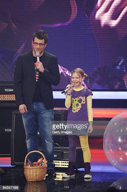 Daniel Hartwich and Carlotta Truman performs during the 3rd semi final of the TV show 'Das Supertalent' on December 12 2009 in Cologne Germany