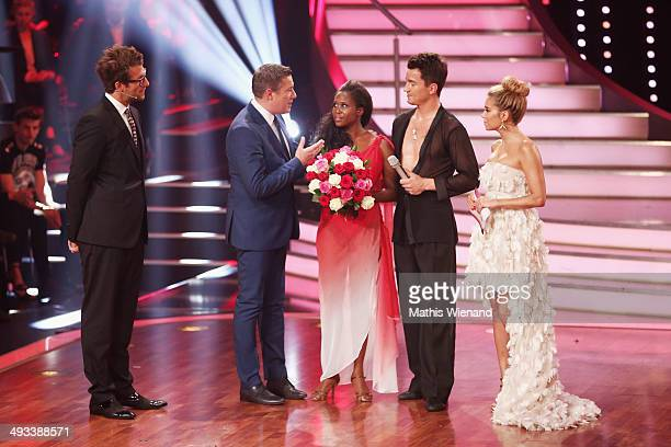 Daniel Hartwich Joachim Llambi Motsi Mabuse Evgenij Voznyuk and Sylvie Meis attend the 8th Show of 'Let's Dance' on May 23 2014 in Cologne Germany