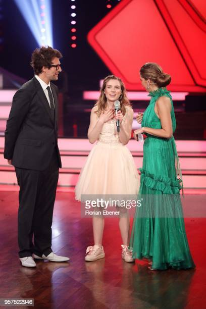Daniel Hartwich Marie Wegener and Victoria Swarovski during the 8th show of the 11th season of the television competition 'Let's Dance' on May 11...
