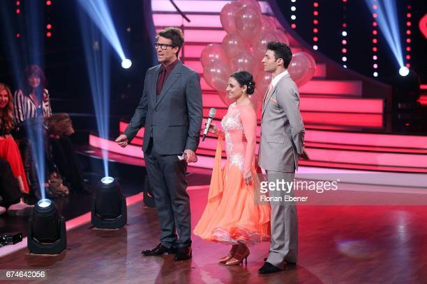 Daniel Hartwich Susi Kentikian and Robert Beitsch during the 6th show of the tenth season of the television competition 'Let's Dance' on April 28...