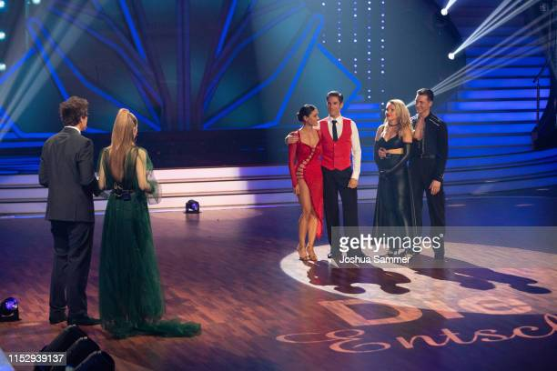 Daniel Hartwich, Victoria Swarovski, Nazan Eckes, Christian Polanc, Evelyn Burdecki and Evgeny Vinokurov during the 10th show of the 12th season of...