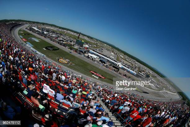 Daniel Hemric driver of the South Point Hotel Casino Chevrolet leads the field during the NASCAR Xfinity Series Sparks Energy 300 at Talladega...