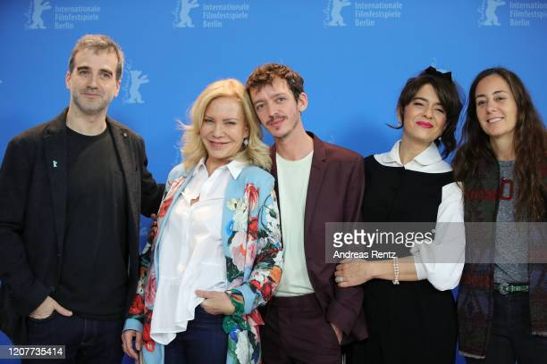 Daniel Hendler Cecilia Roth Nahuel Perez Biscayart Erica Rivas and director Natalia Meta attend the The Intruder photo call during the 70th Berlinale...