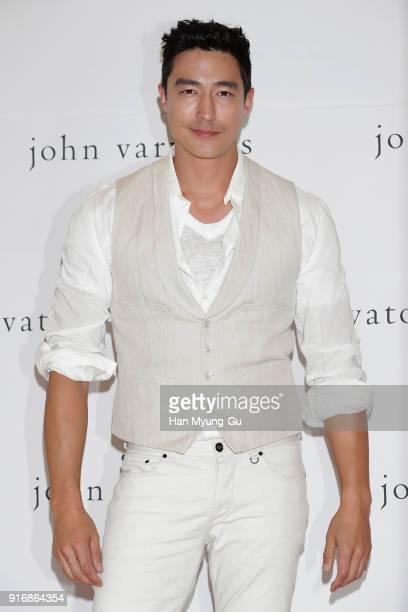 Daniel Henney attends autographs for 'John Varvatos' at Lotte Department Store on February 11 2018 in Seoul South Korea