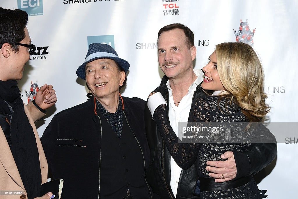 Daniel Henney, James Hong, Bill Paxton and Eliza Coupe attend the 'Shanghai Calling' Los Angeles premiere at TCL Chinese Theatre on February 12, 2013 in Hollywood, California.