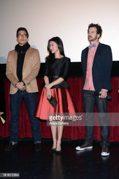 Daniel Henney Zhu Zhu and Sean Gallagher attend the 'Shanghai Calling' Los Angeles premiere at TCL Chinese Theatre on February 12 2013 in Hollywood...