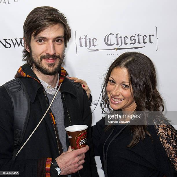 Daniel Hess and publicist Jamie Krauss Hess attend Paige Hospitality Group's Third Annual Sundance Football Game Watch on January 19 2014 in Park...