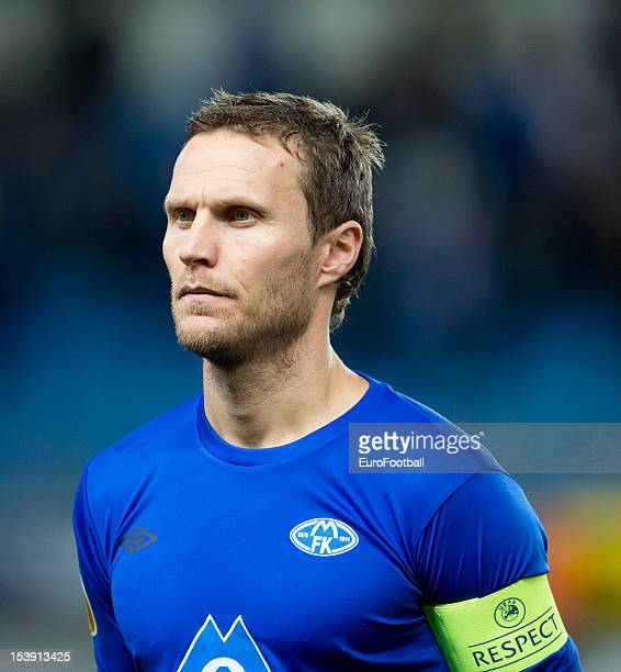 Daniel Hestad of Molde FK in action during the UEFA Europa League group stage match between Molde FK and VfB Stuttgart held on October 4 2012 at the...