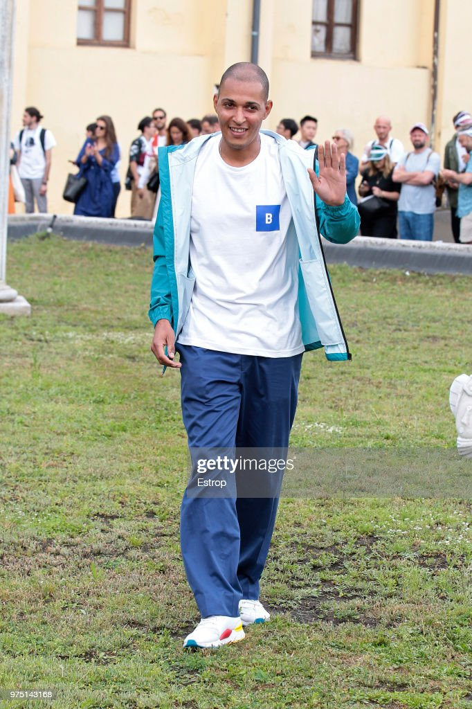 Daniel Hettmann walks the runway at the Band Of Outsiders presentation during the 94th Pitti Immagine Uomo on June 13, 2018 in Florence, Italy.