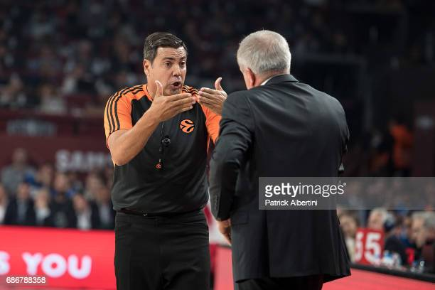 Daniel Hierrezuelo Navas Final Four EuroLeague referee in action during the Championship Game 2017 Turkish Airlines EuroLeague Final Four between...