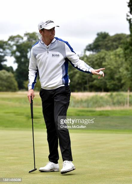 Daniel Hillier of New Zealand during Day Two of The ISPS HANDA World Invitational at Galgorm Spa & Golf Resort on July 30, 2021 in Ballymena,...