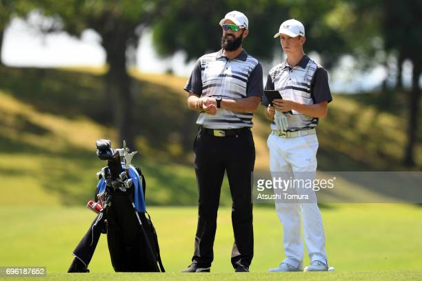 Daniel Hillier of New Zealand looks on during the third round of the 2017 TOYOTA Junior Golf World Cup at the Chukyo Golf Club Ishino Course on June...
