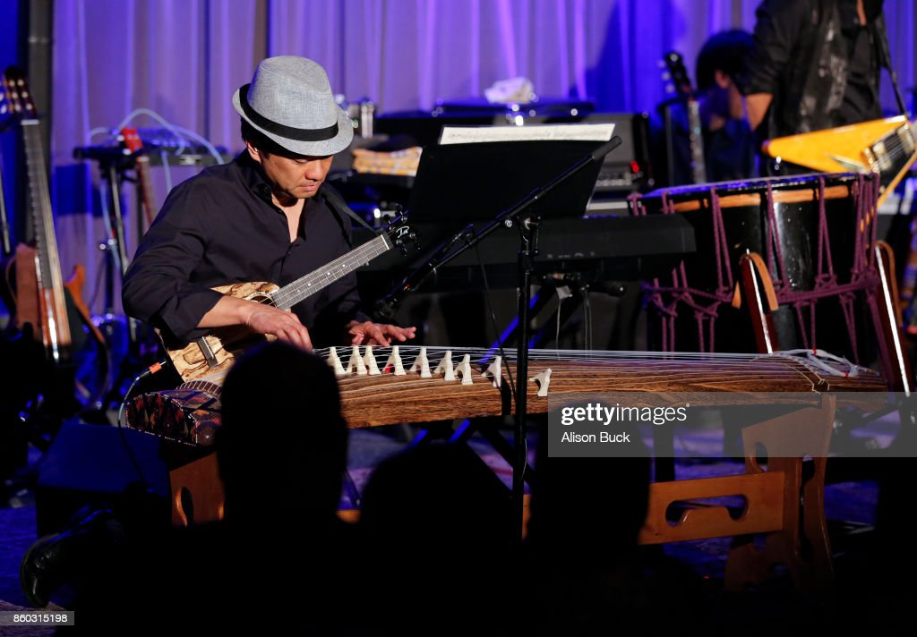 Daniel Ho performs onstage during An Evening With Tak Matsumoto & Daniel Ho at The GRAMMY Museum on October 10, 2017 in Los Angeles, California.