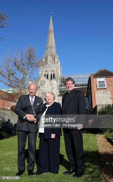Daniel Hodson Chairman of the High Roof Restoration Appeal Dame Patricia Routledge Patron of the appeal and The Very Reverend Stephen Waine Dean of...