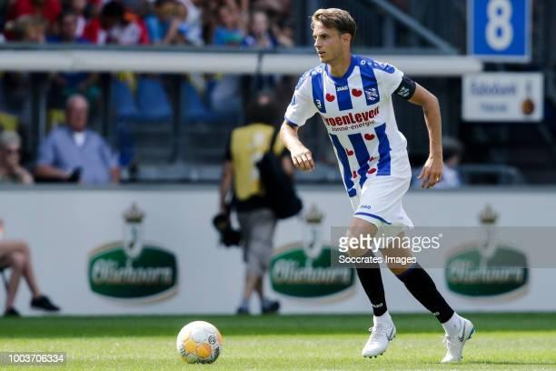 Daniel Hoegh of SC Heerenveen during the Club Friendly match between SC Heerenveen v Kayserispor at the Abe Lenstra Stadium on July 21 2018 in...