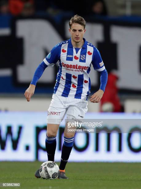 Daniel Hoegh of SC Heerenveen during the Dutch Eredivisie match between SC Heerenveen v Excelsior at the Abe Lenstra Stadium on February 24 2018 in...