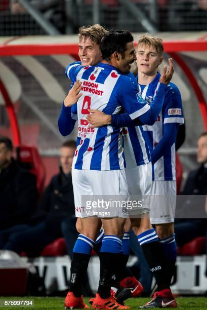 Daniel Hoegh of sc Heerenveen Reza Ghoochannejhad of sc Heerenveen Martin Odegaard of sc Heerenveen during the Dutch Eredivisie match between FC...