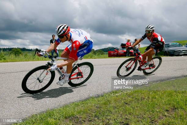 Daniel Hoelgaard of Norway and Team Groupama - FDJ / Fabio Felline of Italy and Team Trek-Segafredo / during the 83rd Tour of Switzerland, Stage 2 a...