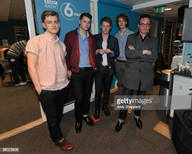 Daniel Hopewell Alex Saunders George Waite and Russel Bates of The Crookes guest with Richard Hawley for a special edition of The Evening Session at...