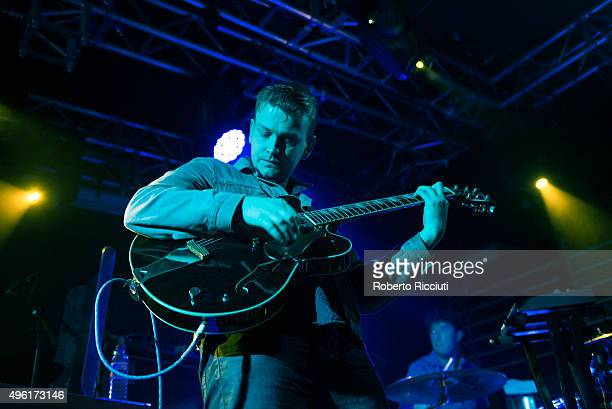 Daniel Hopewell and Adam Crofts of The Crookes perform on stage at The Liquid Room on November 7 2015 in Edinburgh Scotland