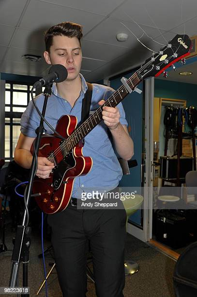 Daniel Hopewell of The Crookes performs for a special edition of The Evening Session at the BBC 6 Music Studios on April 2 2010 in London England