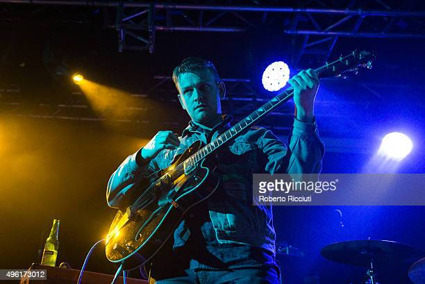 Daniel Hopewell of The Crookes performs on stage at The Liquid Room on November 7 2015 in Edinburgh Scotland