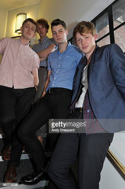 Daniel Hopewell Russel Bates Alex Saunders and George Waite of The Crookes attend a special edition of The Evening Session at the BBC 6 Music Studios...