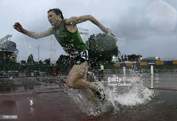 Daniel Hornery in action during the men's 3000 metre steeplechase event at the Zatopek Classic at Olympic Park December 14 2006 in Melbourne Australia